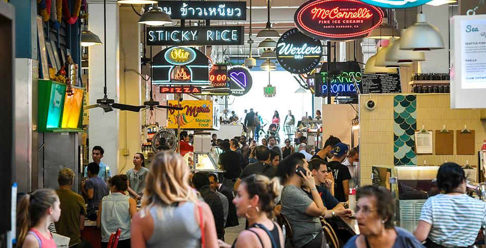 Grand Central Market, September 28, 2017. (Photo by Michael Owen Baker)